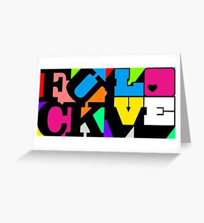F*ck/Love Greeting Card