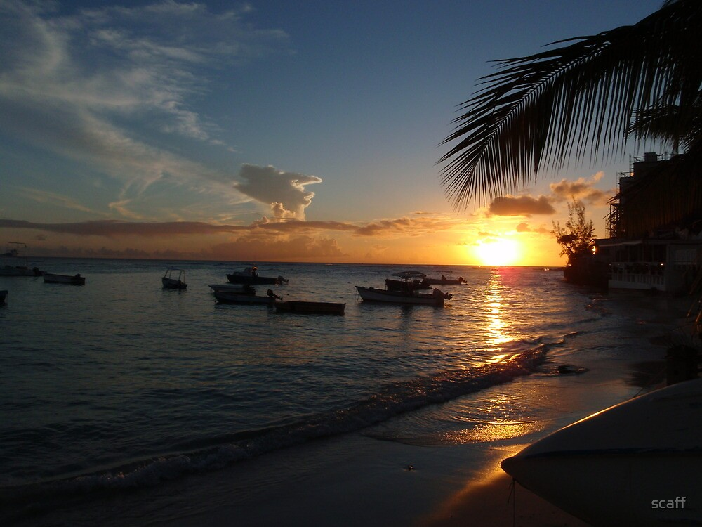 Barbados sunset1 by scaff