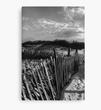 Dune Fence at Sandy Hook Canvas Print
