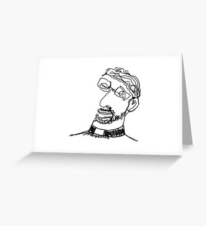 the priest  Greeting Card