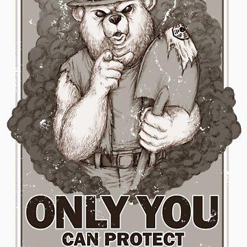 Smoke The Lost Bear - STICKER by WinterArtwork