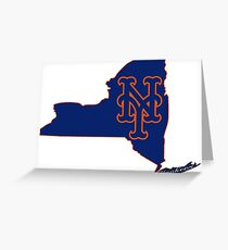 Mets Over Yankees Greeting Card