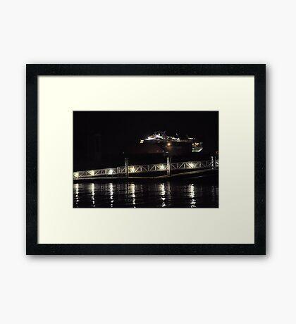 Marina Lights Framed Print