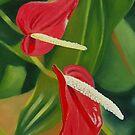 Flower Hearts von Graeme  Stevenson