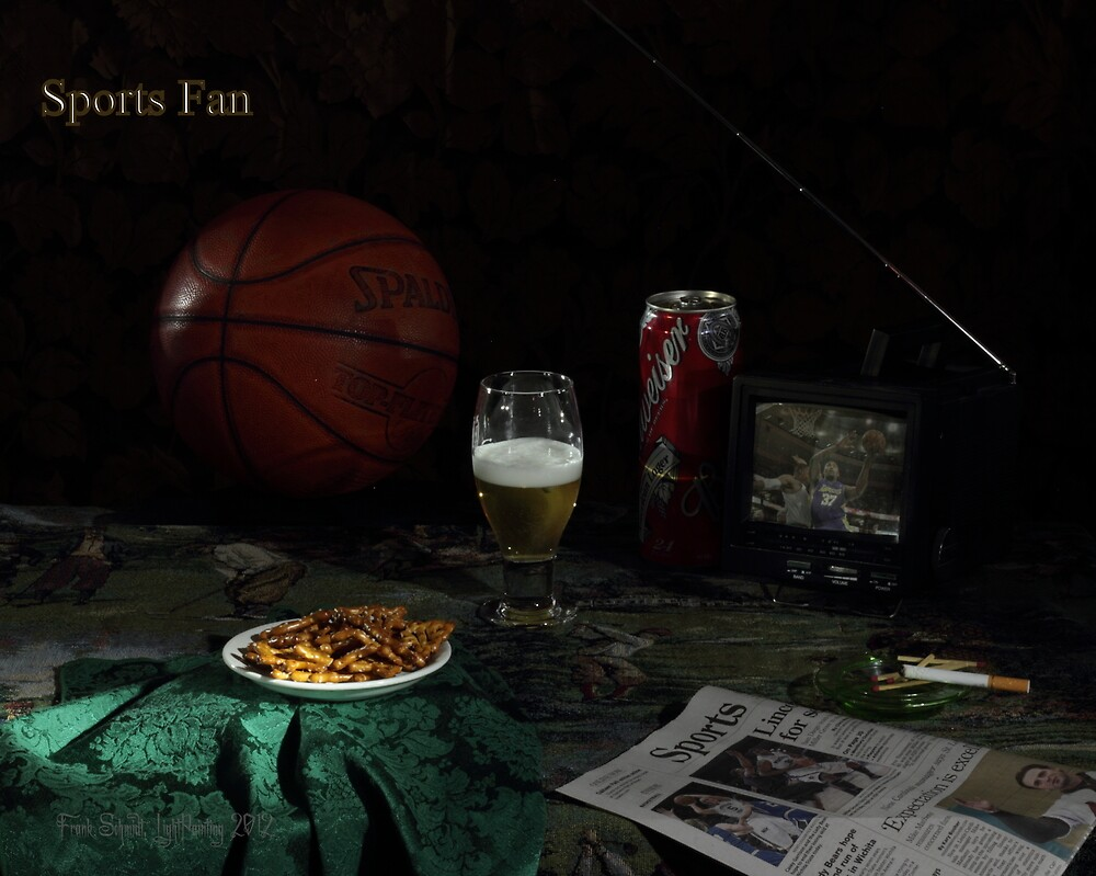 Basketball and Cigarette with Beer by FrankSchmidt