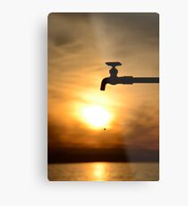 One Drop at a Time... Metal Print