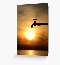 One Drop at a Time... Greeting Card