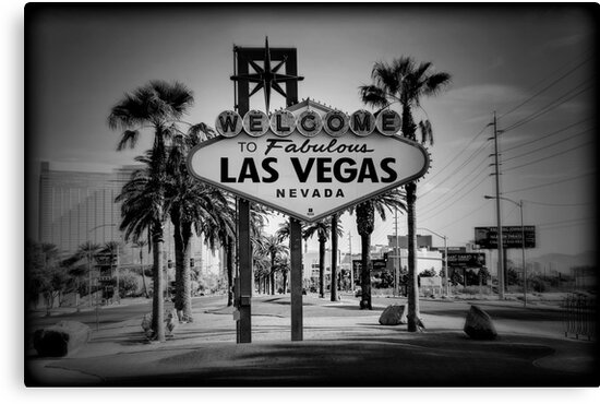 Welcome To Las Vegas Sign Series 3 of 6 Holga Black and White by RickyBarnard