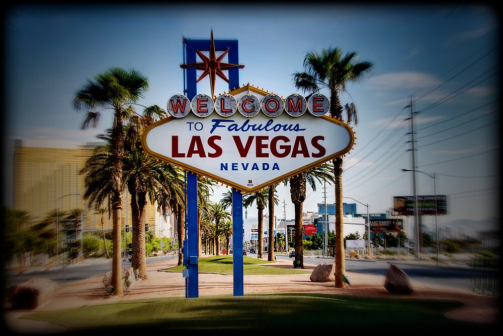 Welcome To Las Vegas Sign Series 4 of 6 Holga Color by RickyBarnard