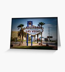 Welcome To Las Vegas Sign Series 4 of 6 Holga Color Greeting Card