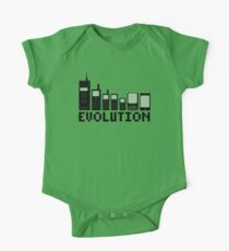 Cell Phone Evolution One Piece - Short Sleeve