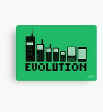 Cell Phone Evolution Canvas Print