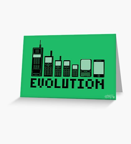 Cell Phone Evolution Greeting Card