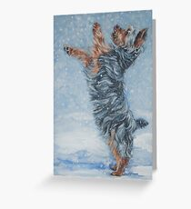 Yorkshire Terrier Fine Art Painting Greeting Card