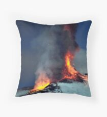 Fire on the snow. (RB EXPLORE) Throw Pillow