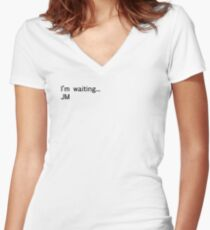 Reichenbach Text 2 (Black) Women's Fitted V-Neck T-Shirt