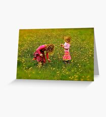 Innocence and Bouquets Greeting Card