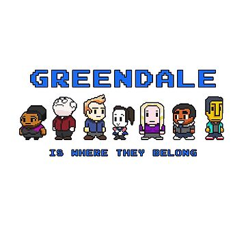 8-bit Greendale is Where They Belong (Video Game Text) by oncenfuturekiki