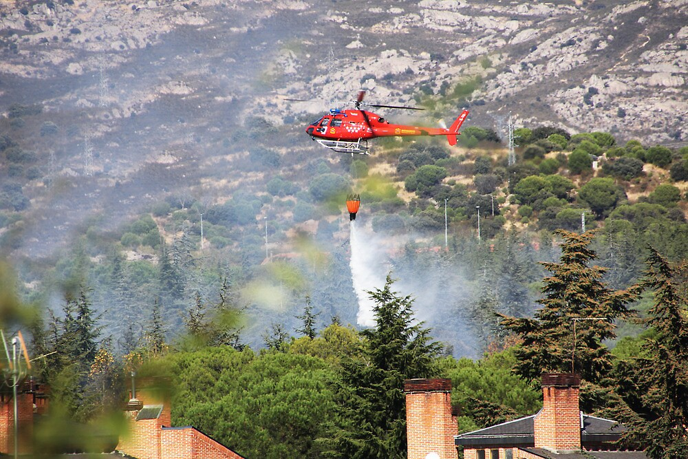 fire fighting helicopters fire on the mountain by james633