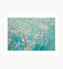 Bleu d'hiver Art Print