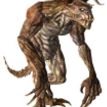 Pixel Deathclaw by fuzzyscene