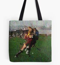 110711 162 0 pointillist field hockey displace Tote Bag
