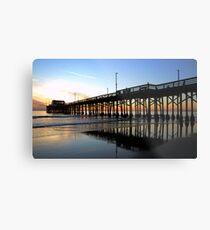 Newport Pier Sunset Metal Print