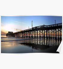 Newport Pier Sunset Poster