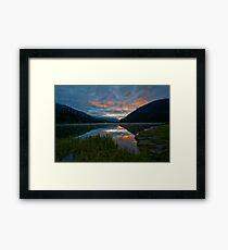 Lightning Lake Framed Print