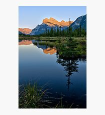 Sunset on Mt Rundle Photographic Print