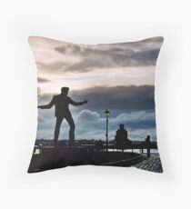 Billy Fury Statue.. Throw Pillow