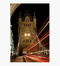 bus over towerbridge Fotodruck
