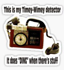 Timey-Wimey Detector Sticker