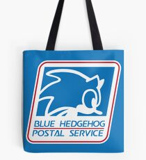 BLUE HEDGEHOG POSTAL SERVICE Tote Bag