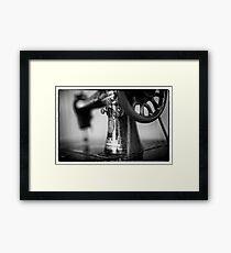 Vintage Singer Sewing Machine Framed Print