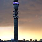 Cold sunset behind the BT Tower by Peter Dickinson