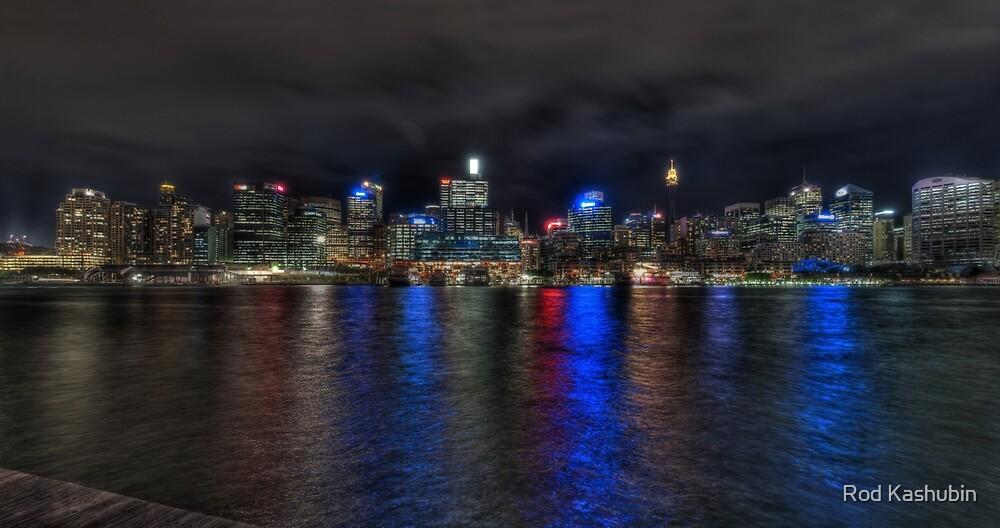 Sydney CBD at night by Rod Kashubin