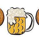Pretzel Dog & Beer by fluffymafi