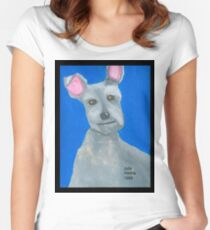The Oil Pastel Scotty Dog by Julia Hanna Women's Fitted Scoop T-Shirt