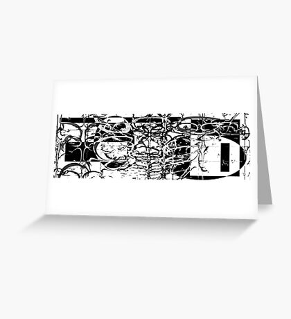 It's black and white! Greeting Card