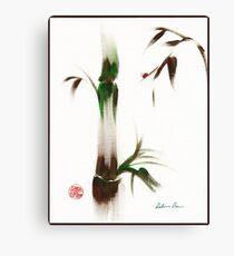Little Lady - Zen bamboo ladybug painting Canvas Print