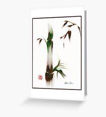 Little Lady - Zen bamboo ladybug painting Greeting Card