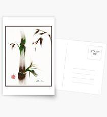 Little Lady - Zen bamboo ladybug painting Postcards