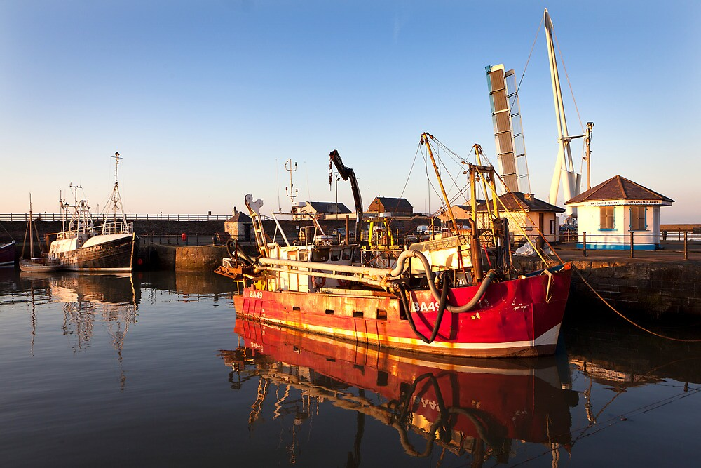 Red Fishing Vessel - Maryport Harbour by Jan Fialkowski