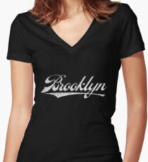 Brooklyn Swash Women's Fitted V-Neck T-Shirt