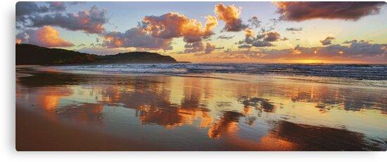 Reflections - Frazer Beach Sunrise by Tam  Locke