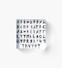 Complete Dalecarlian Runes Acrylic Block