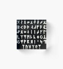 Complete Dalecarlian Runes Inverted Acrylic Block