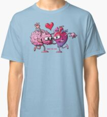 Heart and Brain: A Love Story Classic T-Shirt