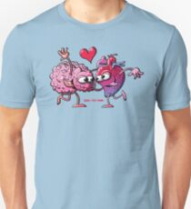 Heart and Brain: A Love Story Unisex T-Shirt